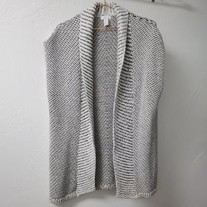 CHICO'S | Metallic Sleeveless Cardigan Shrug 1